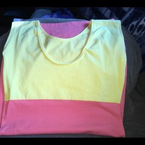 American Apparel Color Block Mini Dress